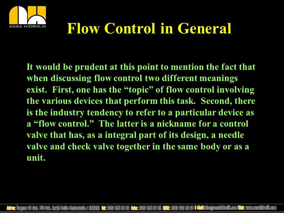 Flow Control in General