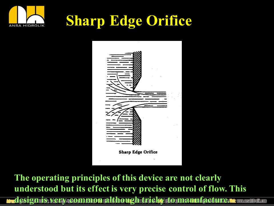 Sharp Edge Orifice