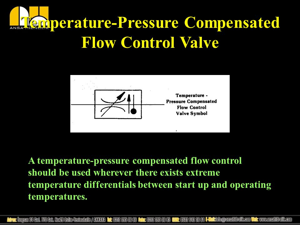 Temperature-Pressure Compensated Flow Control Valve