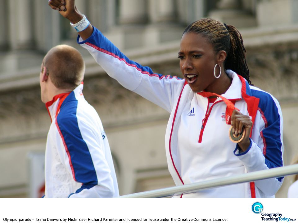 Olympic parade – Tasha Danvers by Flickr user Richard Parmiter and licensed for reuse under the Creative Commons Licence.