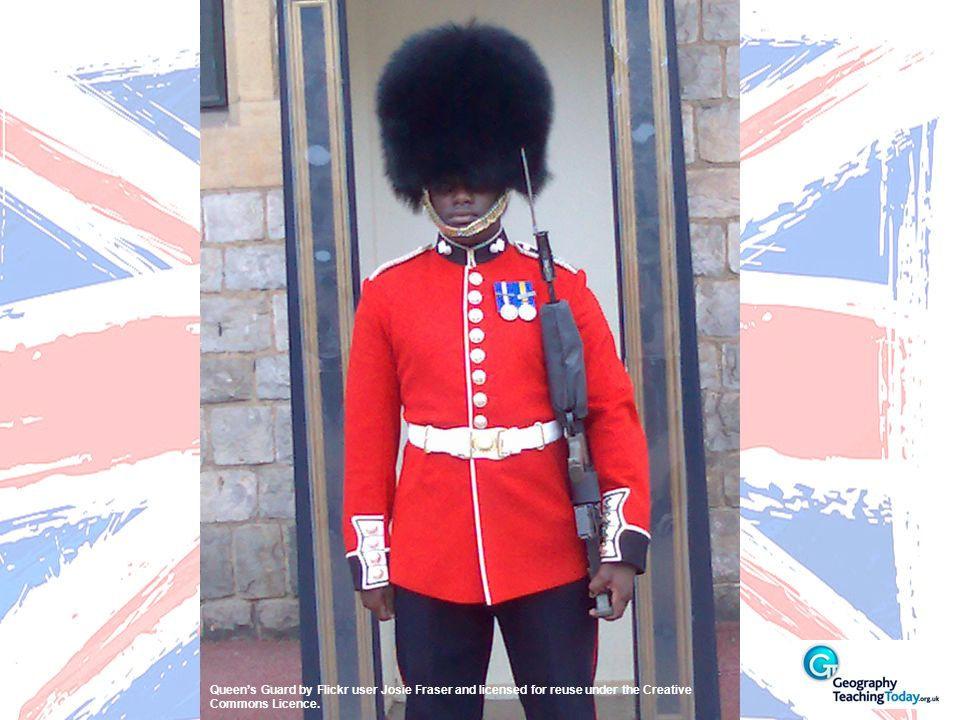 Queen's Guard by Flickr user Josie Fraser and licensed for reuse under the Creative