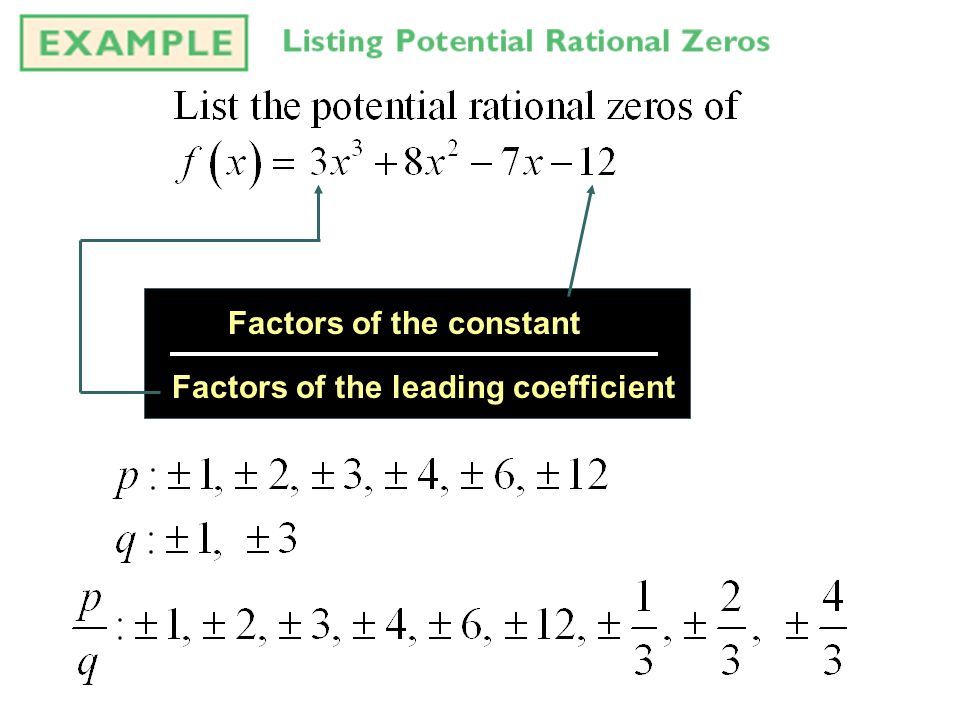 Factors of the constant