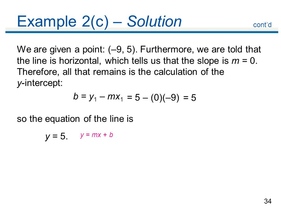 Example 2(c) – Solution cont'd.