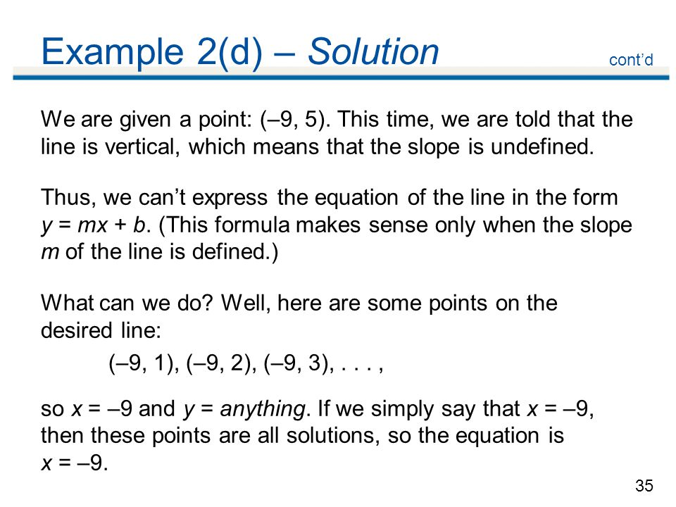 Example 2(d) – Solution cont'd.