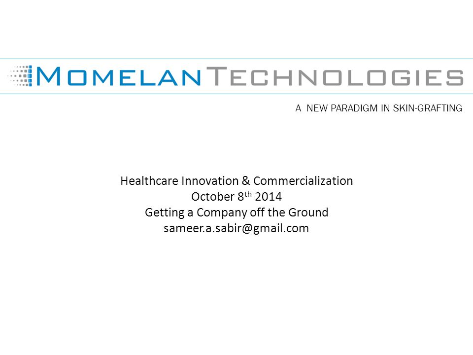 Healthcare Innovation & Commercialization October 8th 2014