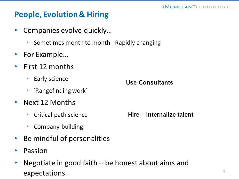 People, Evolution & Hiring