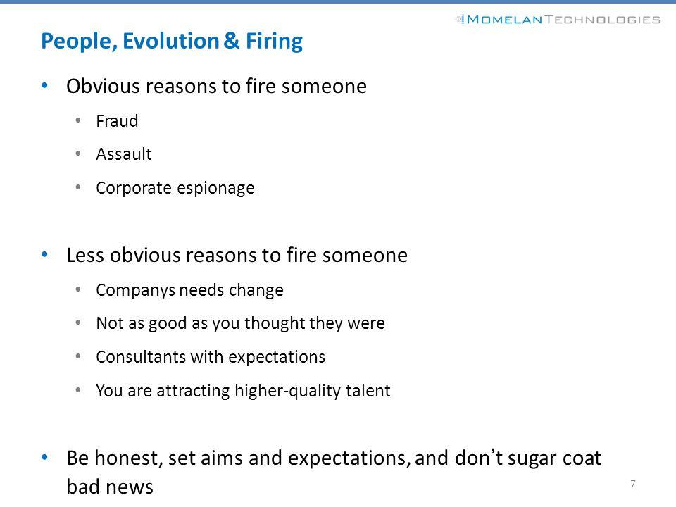 People, Evolution & Firing
