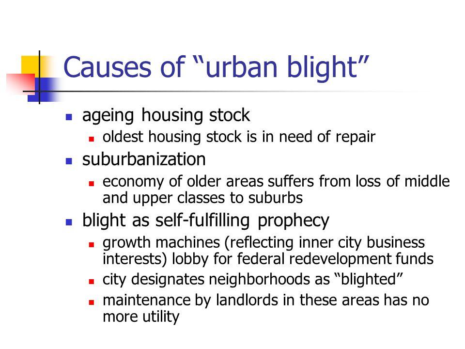 Causes of urban blight