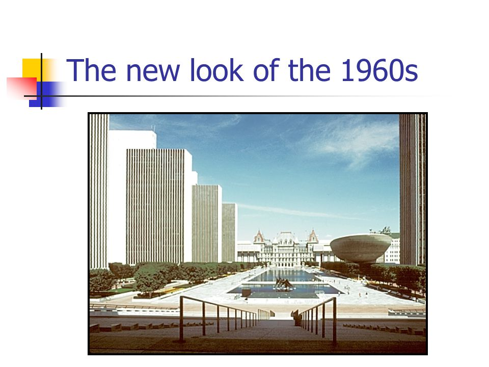 The new look of the 1960s