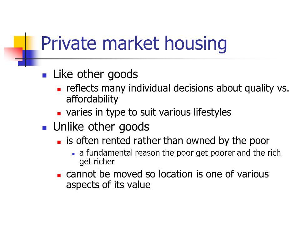 Private market housing