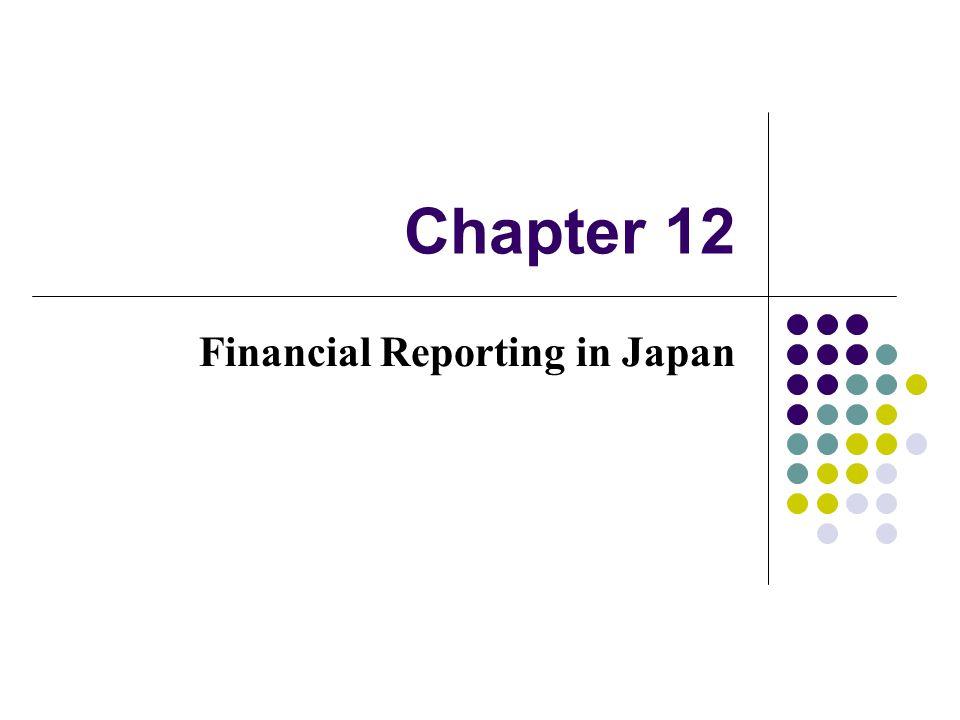 Financial Reporting in Japan
