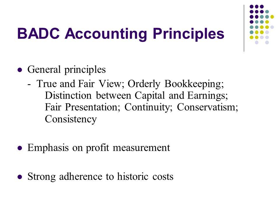 BADC Accounting Principles