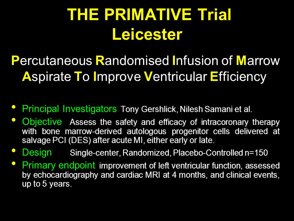 THE PRIMATIVE Trial Leicester