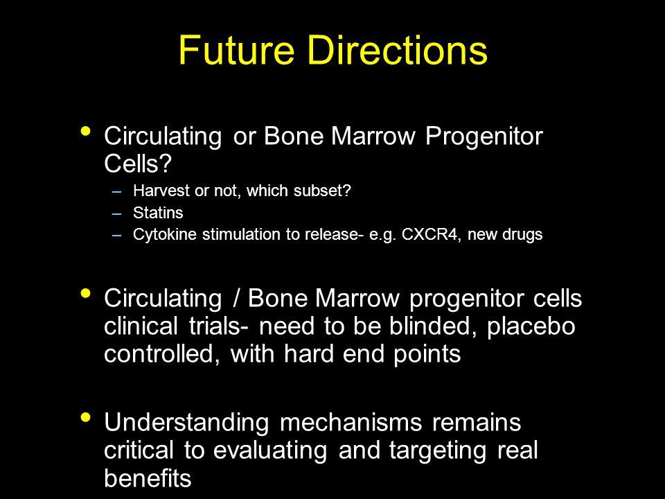 Future Directions Circulating or Bone Marrow Progenitor Cells