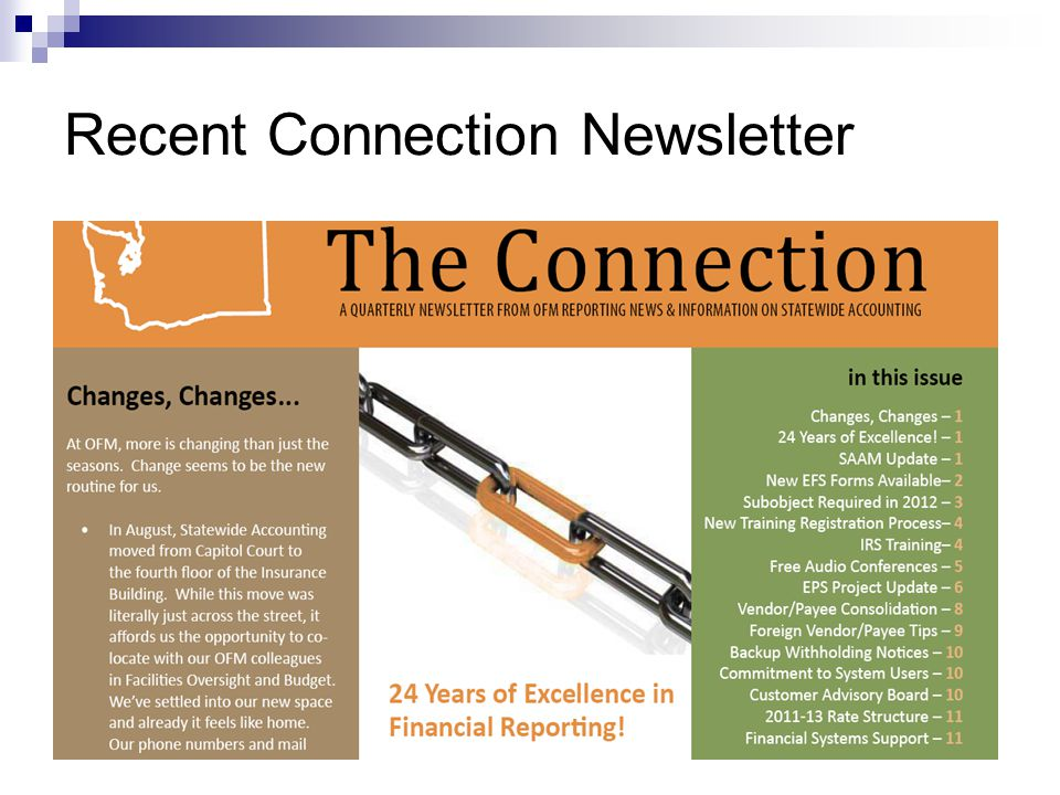 Recent Connection Newsletter