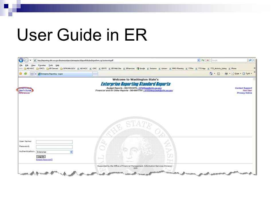 User Guide in ER