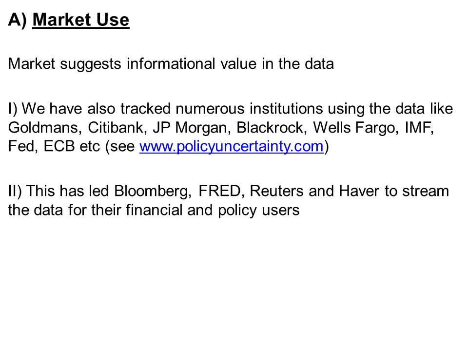 A) Market Use Market suggests informational value in the data