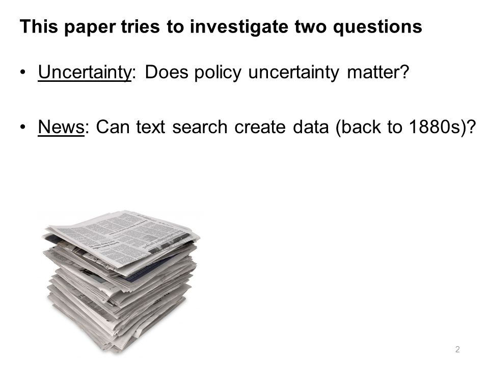 This paper tries to investigate two questions
