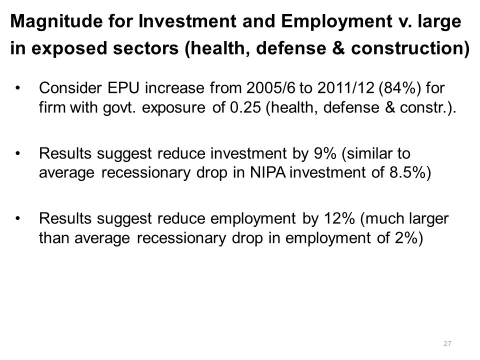 Magnitude for Investment and Employment v