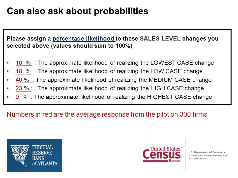Can also ask about probabilities