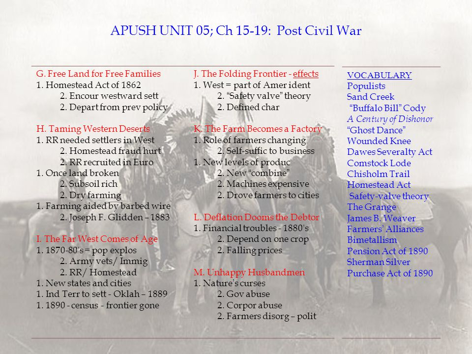 apush unit 9 frq 2017 ap® united states history free-response questions  c)  briefly explain one specific result in the period 1877–1900 of a historical change   board on the web: wwwcollegeboardorg go on to the next page -9.
