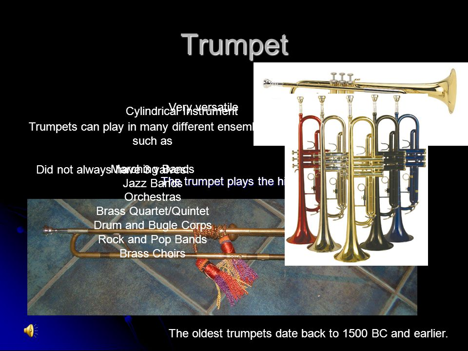 Trumpet Very versatile Cylindrical Instrument