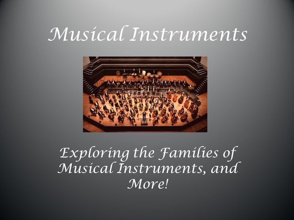 Exploring the Families of Musical Instruments, and More!