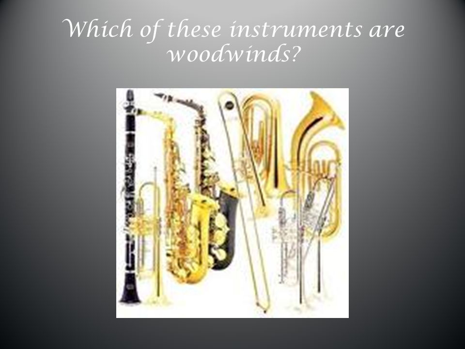 Which of these instruments are woodwinds