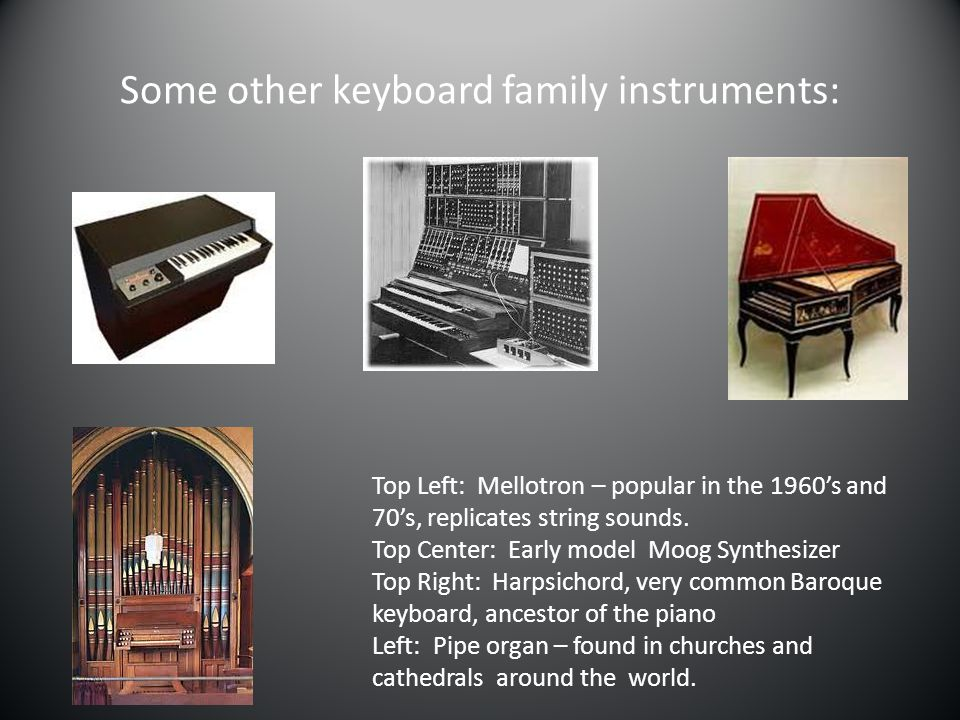 Some other keyboard family instruments: