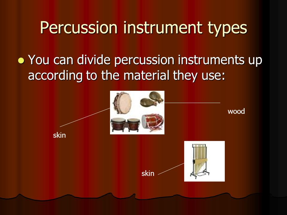 Percussion instrument types