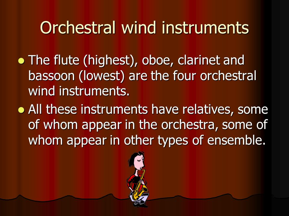 Orchestral wind instruments