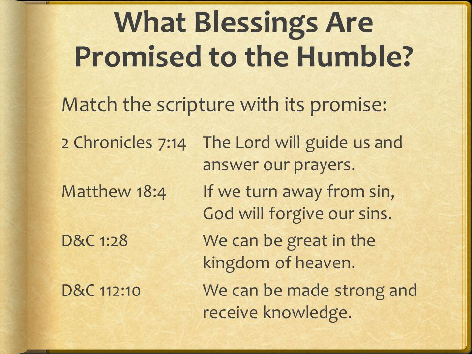 What Blessings Are Promised to the Humble
