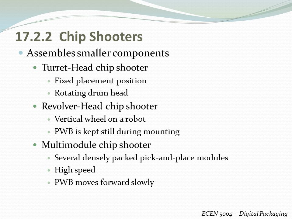 17.2.2 Chip Shooters Assembles smaller components