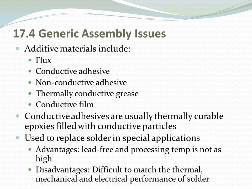 17.4 Generic Assembly Issues
