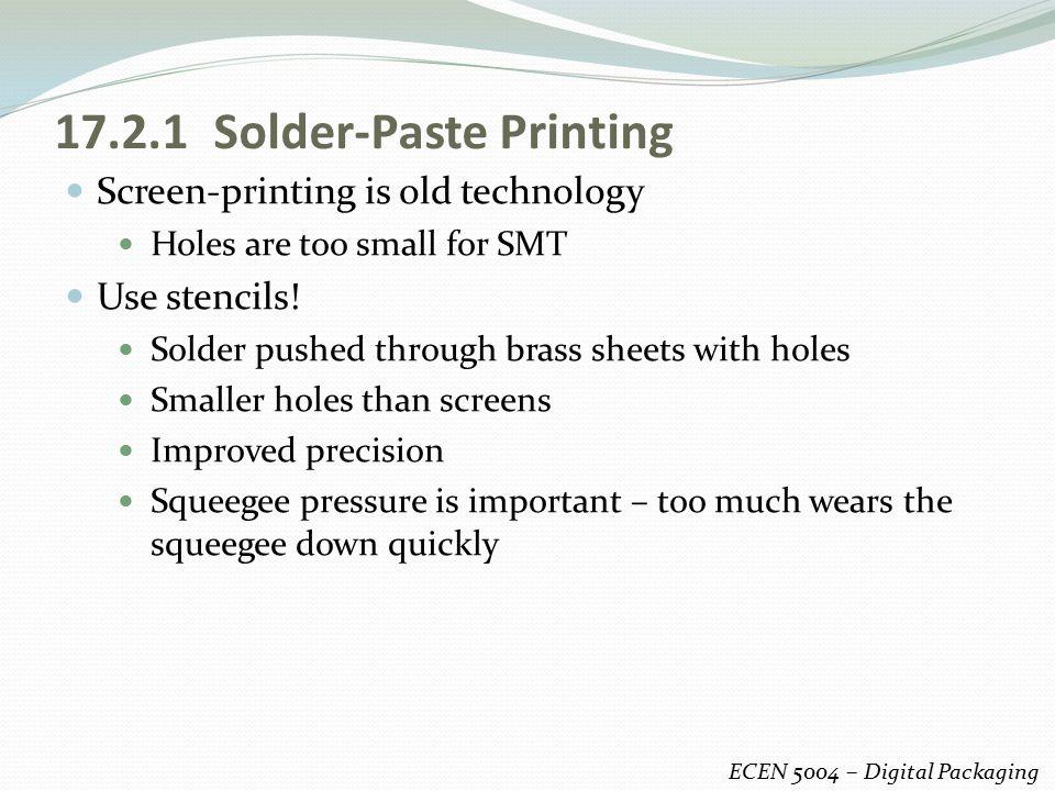 17.2.1 Solder-Paste Printing