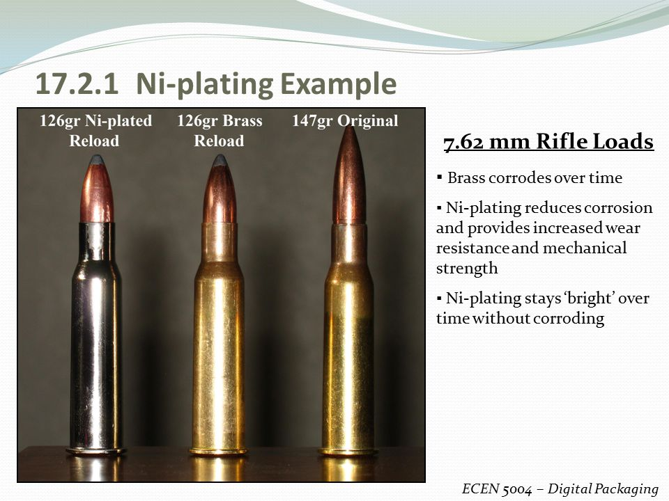 17.2.1 Ni-plating Example 7.62 mm Rifle Loads