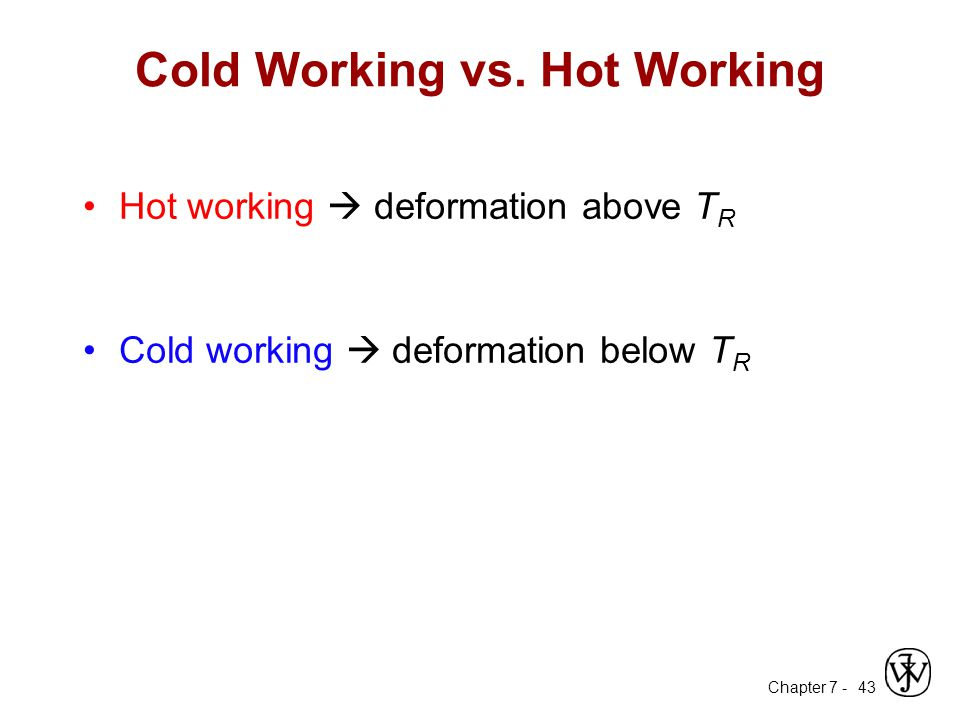 Cold Working vs. Hot Working