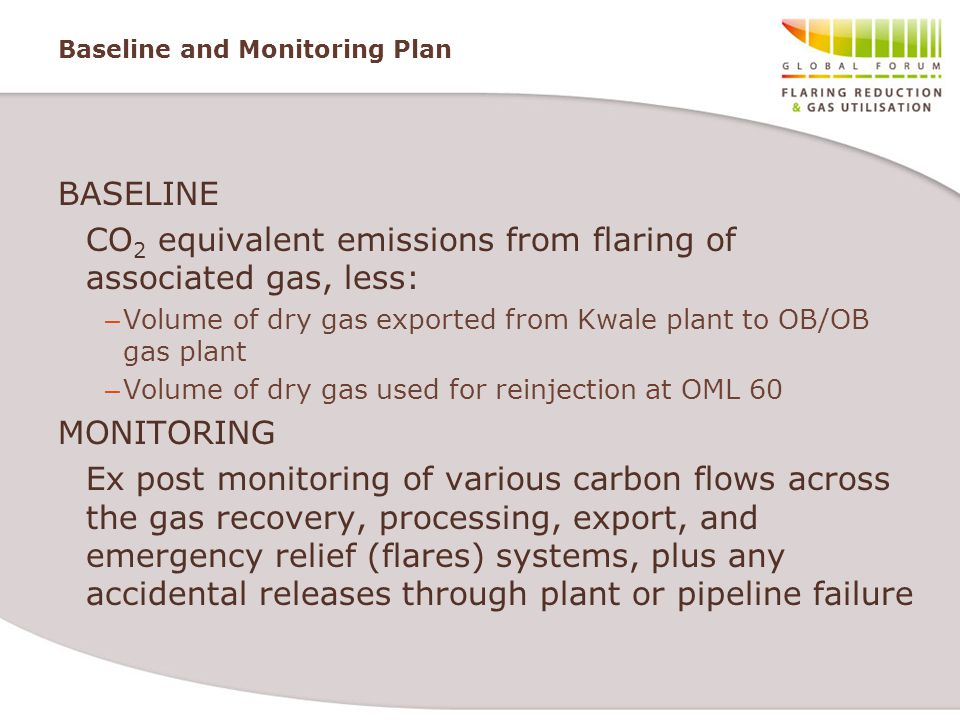 Baseline and Monitoring Plan