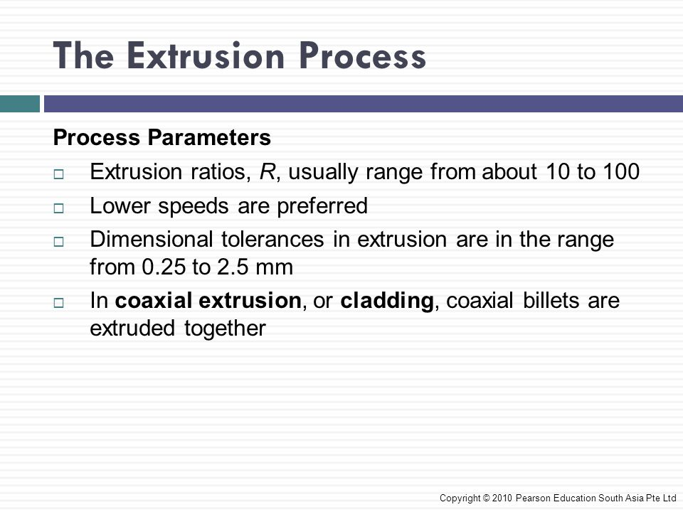 The Extrusion Process Process Parameters