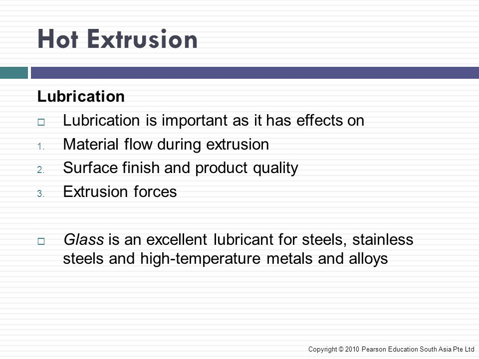 Hot Extrusion Lubrication