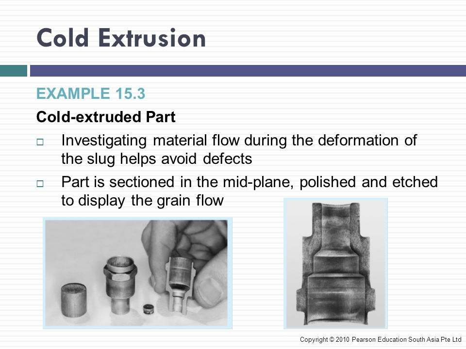 Cold Extrusion EXAMPLE 15.3 Cold-extruded Part