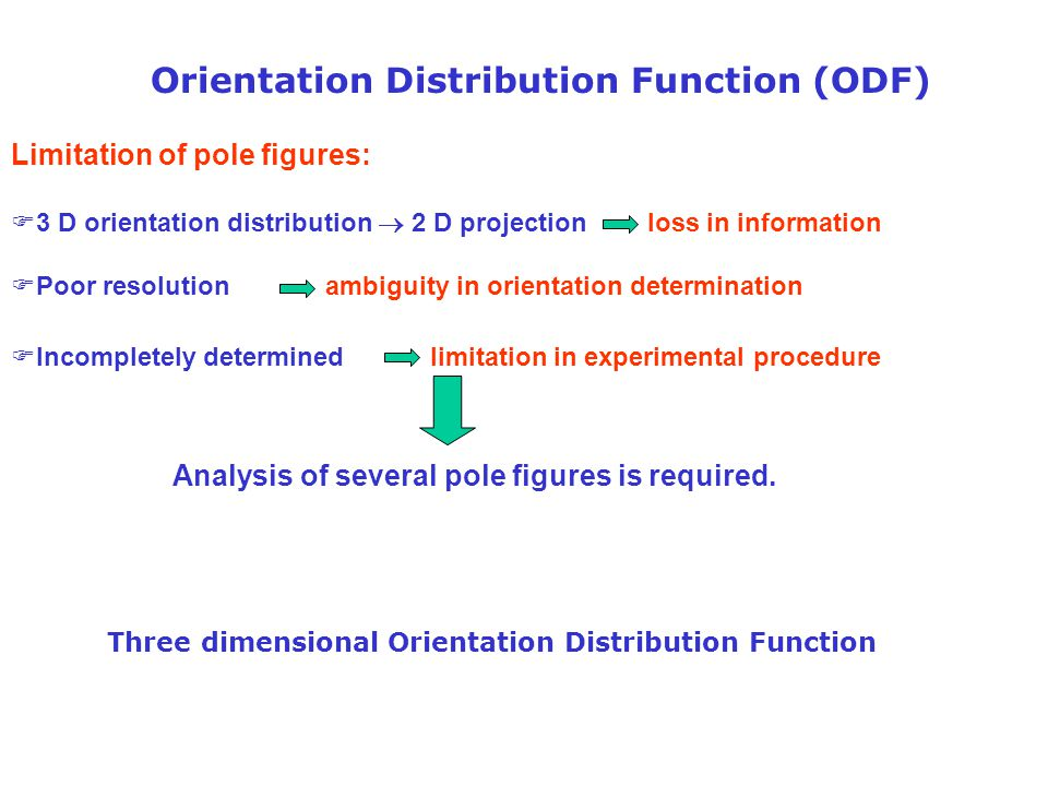 Orientation Distribution Function (ODF)