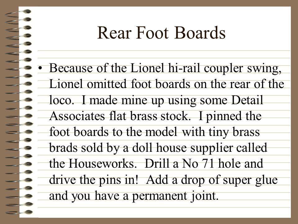 Rear Foot Boards