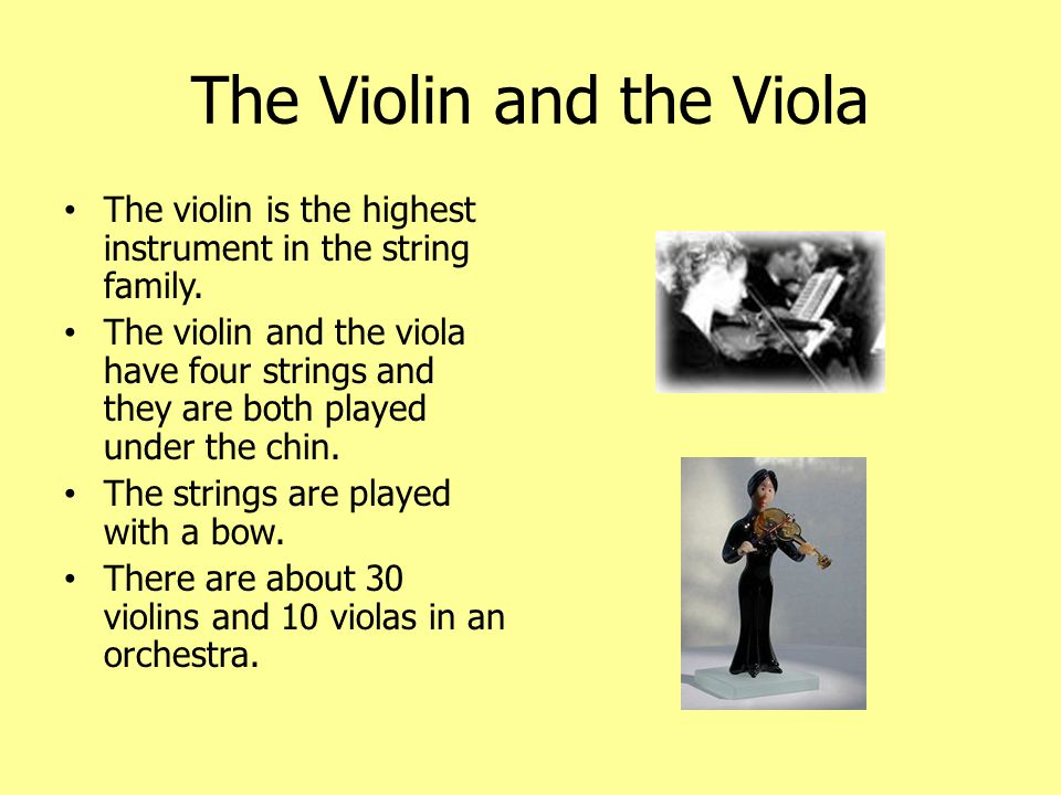 The Violin and the Viola