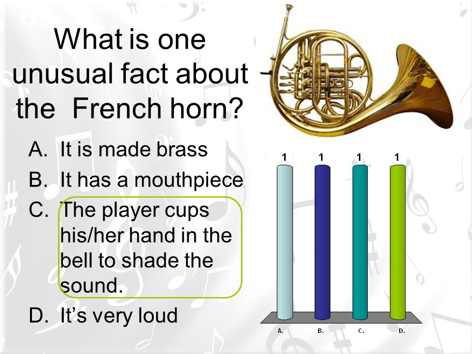 What is one unusual fact about the French horn