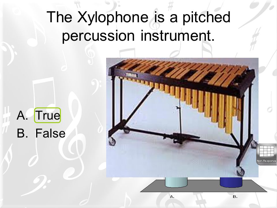 The Xylophone is a pitched percussion instrument.