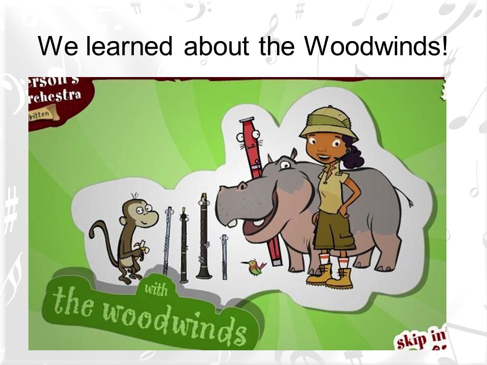 We learned about the Woodwinds!