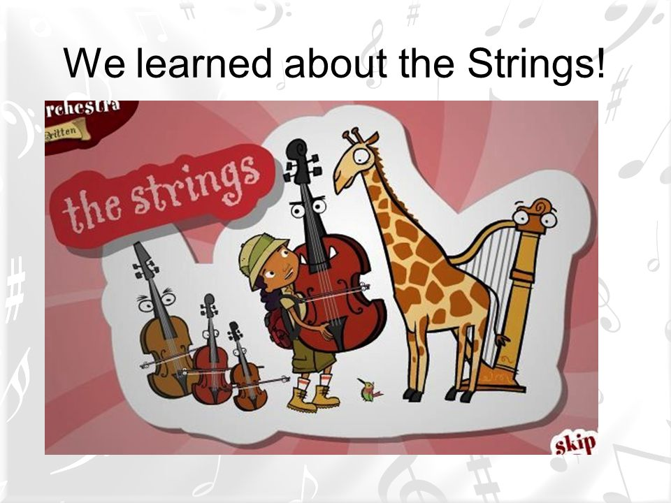 We learned about the Strings!