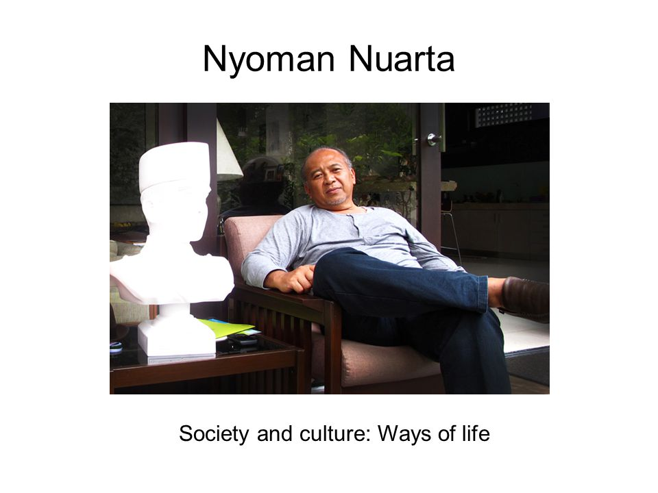 Society and culture: Ways of life