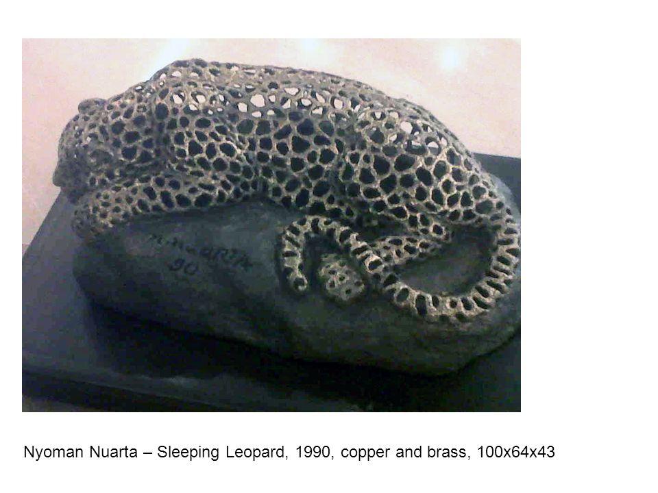Nyoman Nuarta – Sleeping Leopard, 1990, copper and brass, 100x64x43